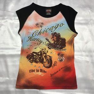 Vintage Harley Davidson Graphic Tank Top